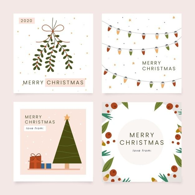 Hand Drawn Christmas Cards Collection Hand Drawn Christmas Cards Merry Christmas Card Greetings Cat Christmas Cards