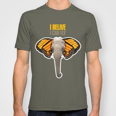BUTTERFLY ELEPHANT T-shirt by VINSPIRO - $22.00
