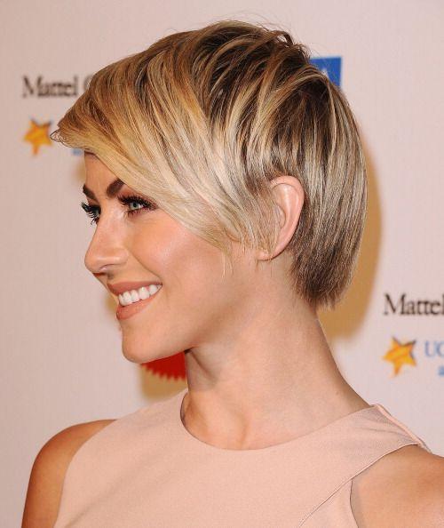 Actress Julianne Hough short hair cut