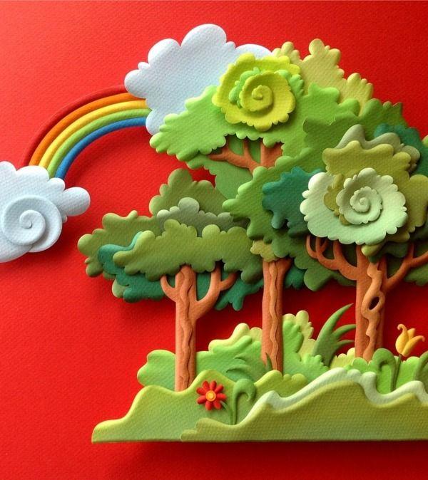 Pritt Glue - paper sculpture by Carlos Meira, via Behance