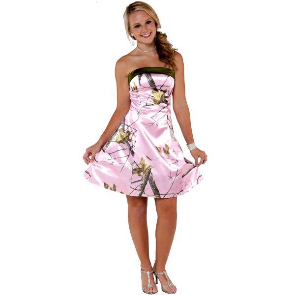 Pink Camo Prom Dress Short Fashion Dresses