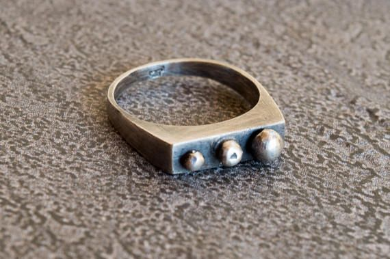 Sterling silver ring-Statement ring-Thumb ring-Statement