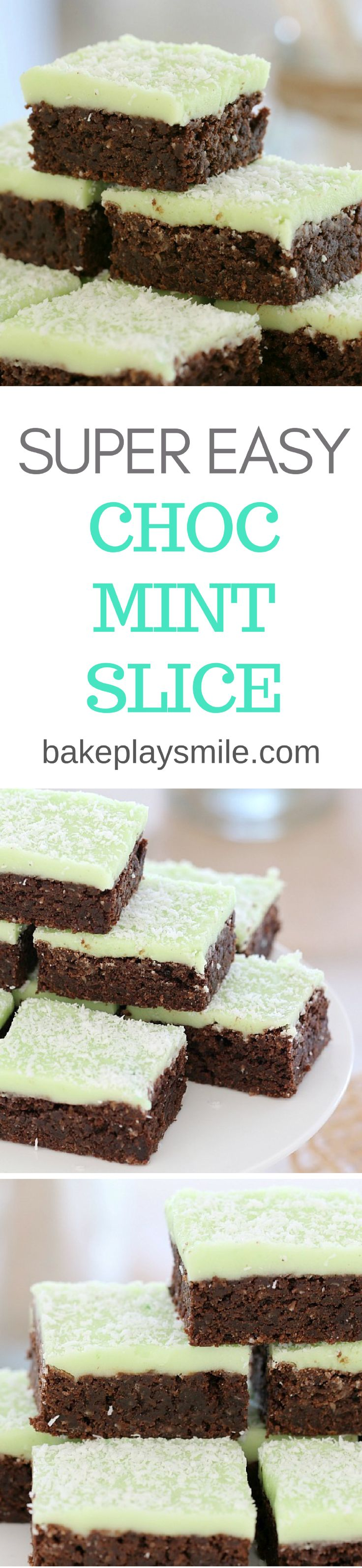 A delicious Thermomix Chocolate Mint Slice that's super easy to make… and tastes great! This one is always a winner with kids and adults alike. #easy #recipe #slice #bars #mint #chocolate #conventional #thermomix #baking #peppermint