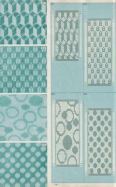 Als je deze afbeelding vergroot dan is het patroon nog goed leesbaar, maak er eventueel zelf een tekening van dan gaat het vlotter.