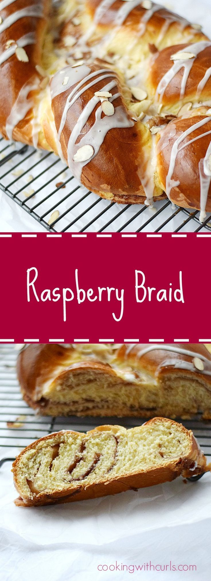 Raspberry Braid for the perfect breakfast or brunch treat | http://cookingwithcurls.com