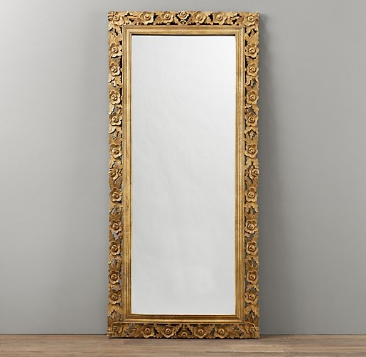 Vintage Hand Carved Full Length Mirror Mirrors
