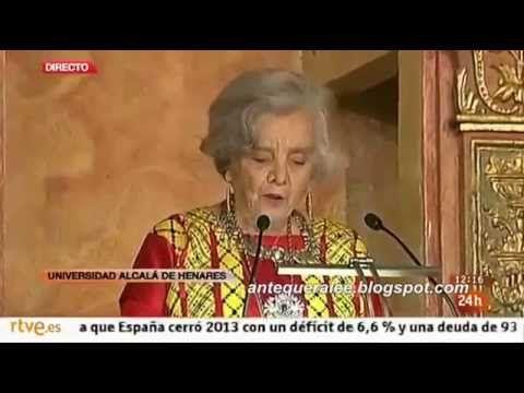 Elena Poniatowska: discurso completo, en su Premio Cervantes 2014 - YouTube
