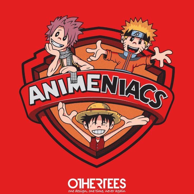 """Animeniacs Shonen"" by Ratigan on sale until 14th August on othertees.com Pin it for a chance at a FREE TEE! #anime #manga #shonen #naruto #onepiece #bleach #dragonballz #dragonball #hikarunogo #souleater #beelzebub"