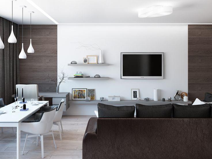 Интерьер квартиры студии для мужчины. Дизайн интерьера: Татьяна Зайцева