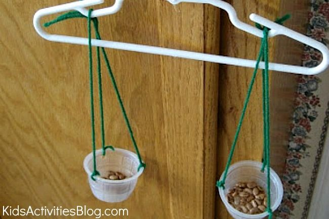 Science for Kids: Make a Balance   For kids, Kids hangers ...