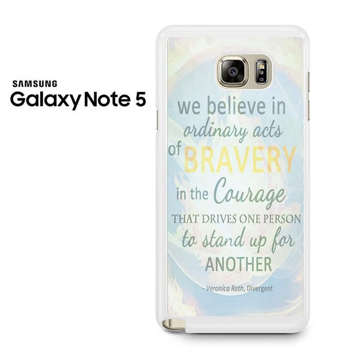 Divergent Dauntless The Brave Quotes Samsung Galaxy Note 5 Case