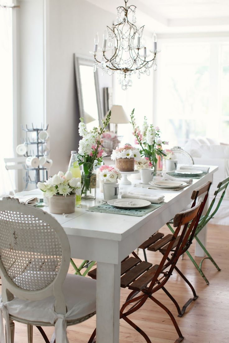 133 best dining room images on pinterest dining room kitchen i like the idea of mismatched chairs at the dining table and seriously why can
