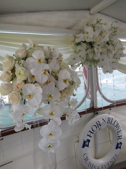 White Orchids #nautical theme #wedding