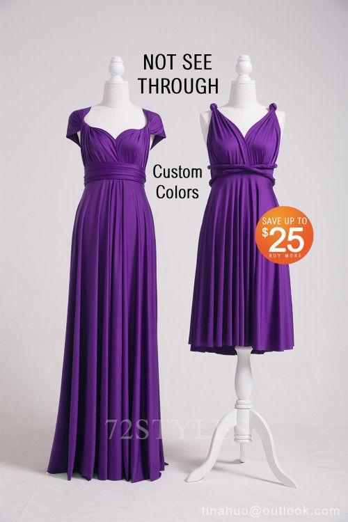 4a44a8c08ed Purple Bridesmaid Dress