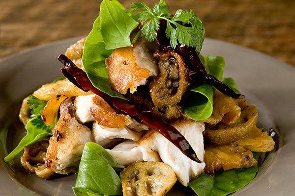 Salad of hapuka, feijoa, chilli and coriander – Recipes – Bite