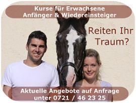 Reitanlage - Berghausen bei Karlsruhe bietet alles von Reiterferien über Ponyreiten für Kinder bis hin zum Pensionsstall