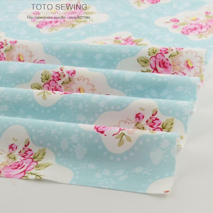 50 см x 160 см/шт красивые старинные розы хлопчатобумажной ткани лоскутное стежка одежда tecido платье шитье постельные принадлежности дома текстиль тильда