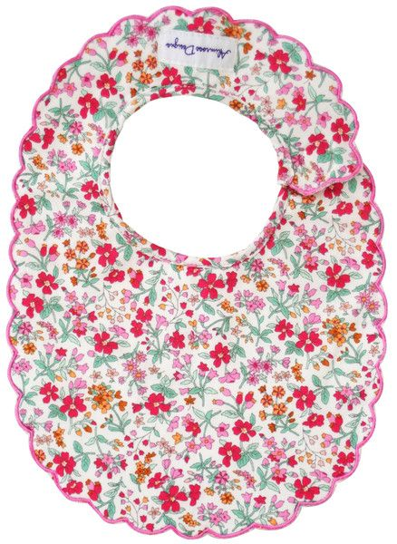 Designed in Australia by Alimrose Designs, this very pretty floral bib features a scallop edge, is towelling-backed and fastens with velcro tabs.  Teams perfectly with the Alimrose Deer Squeaker, Fairy Squeaker and Audrey Rattle.