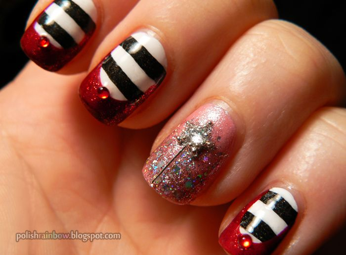 Wizard of Oz Good witch bad witch mani. Love this!