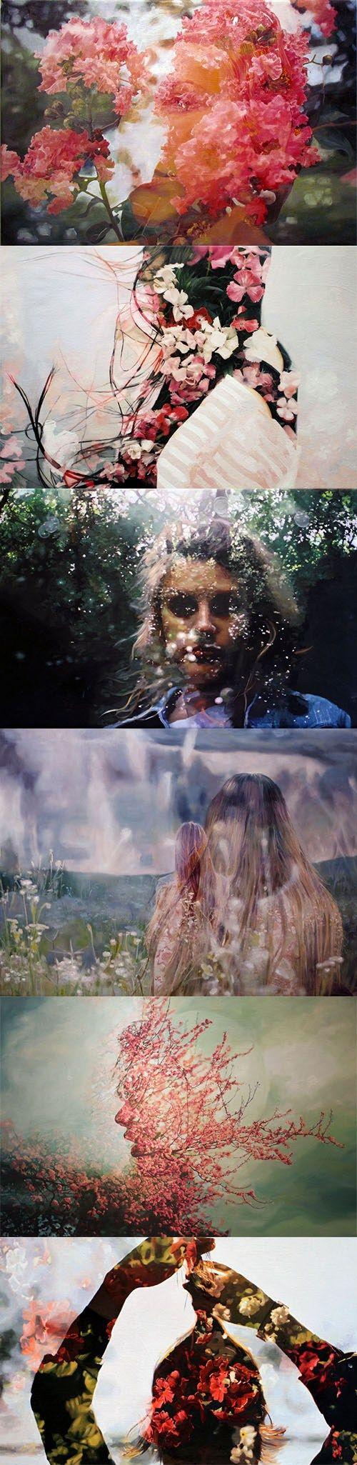 Pakayla Rae Biehn's double exposure oil series