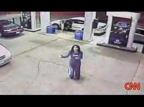 ▶ a ghost or an angel - YouTube.  Taken by a Security Cam at a Gas Station in Ohio.