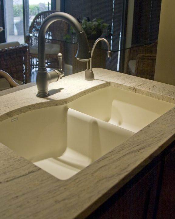 New Granite Faucets In Oiled Rubbed Bronze Blanco Sink