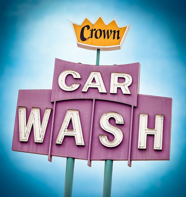 Crown Car Wash by Shakes The Clown, via Flickr