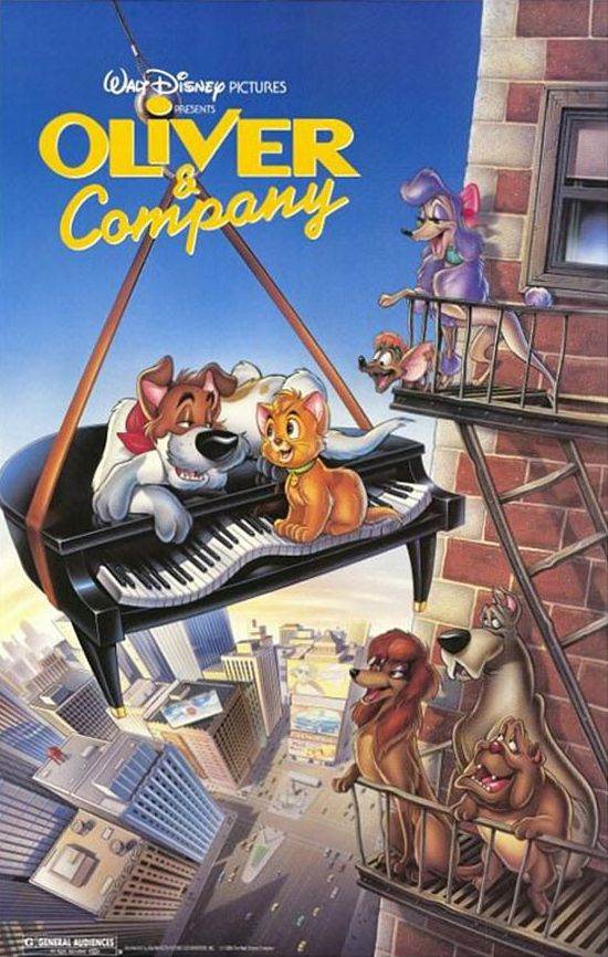 Oliver & Company (1988) 奧麗華歷險記 Walt disney animated