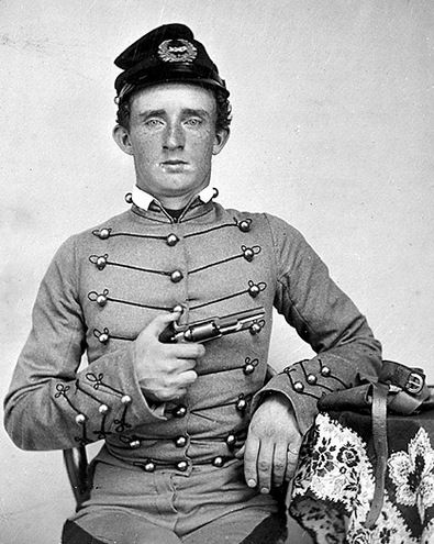 A Young George Armstrong Custer in his West Point uniform.