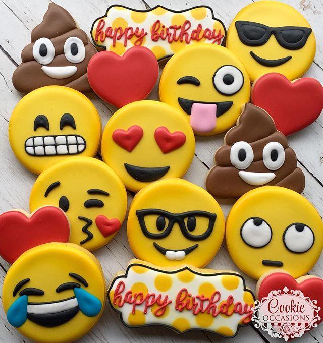 In honor of #worldemojiday #sugarcookies #decoratedcookies #customcookies #emojicookies #cookieoccasions
