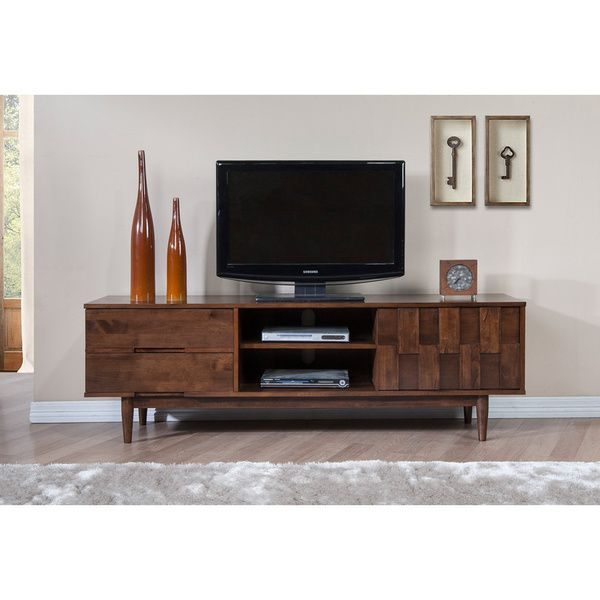 Tessuto Tobacco Finish Entertainment Center   Overstock™ Shopping   Great  Deals On Entertainment Centers