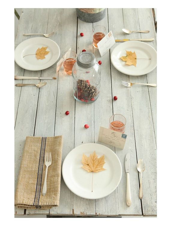 1000 images about thanksgiving on pinterest mantels - Thanksgiving dinner table decorations ...
