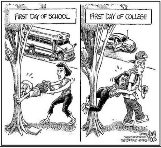 How funny and how true...Laugh, Colleges, Schools, Quote, Firstday, Funny Stuff, So True, Humor, First Day