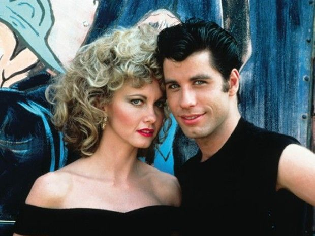 "john travolta & olivia | John Travolta e Olivia Newton-John em cena de ""Grease - Nos tempos da ..."