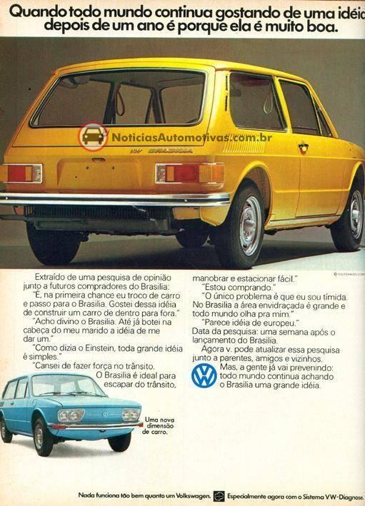 Brasília - VW (Fatos e coisas que marcam nossa vida!: Propagandas antigas de carros 2)