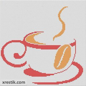 Kofe----12300 Схема для вышивки scheme for cross stitch