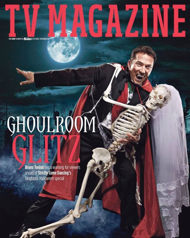 Halloween cover with Bruno Tonioli. Photographer Simon Webb, H&M Victoria Barnes, Styling Janis Morrison.