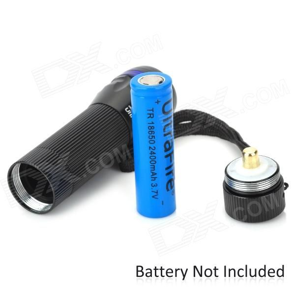 Zooming 350LM 1-LED 3-Mode Waterproof White Light Flashlight for Bicycle (1 x 18650 / 3 x AAA)