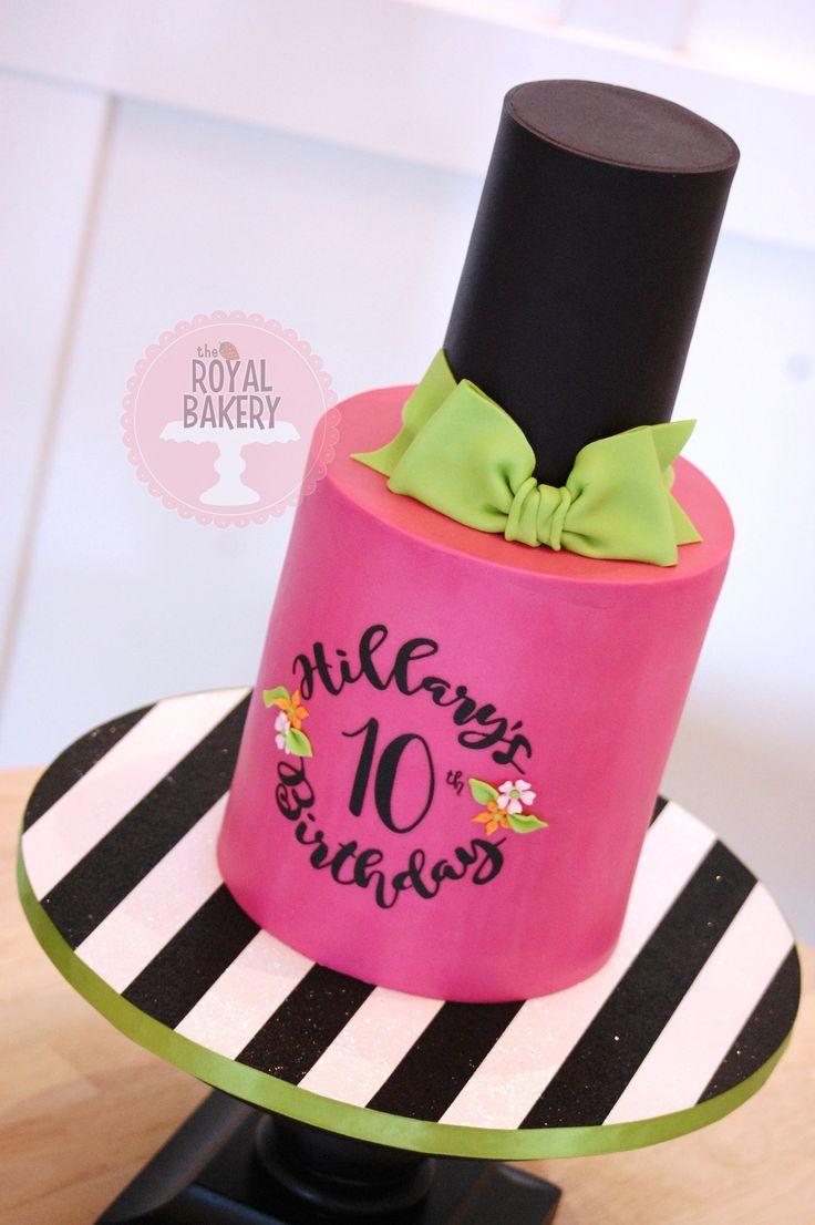 A nail polish/nail varnish cake for a spa party.