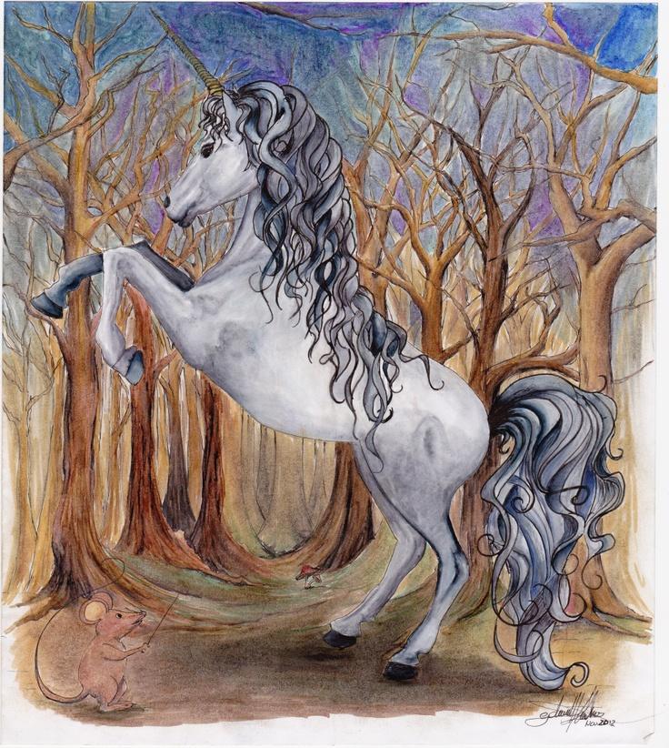 unicorn and mouse - Golrokh Keshavarz