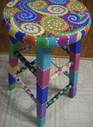 Cool Painted Stool Idea (77)