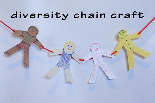 Try making this Black History Month Craft with the kids! Let's Make a Diversity Chain!
