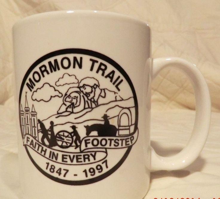 Mormon Trail Coffee Mug Cup Utah Wyoming Nebraska 1847 1997