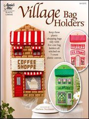 Plastic Canvas Books - Village Bag Holders