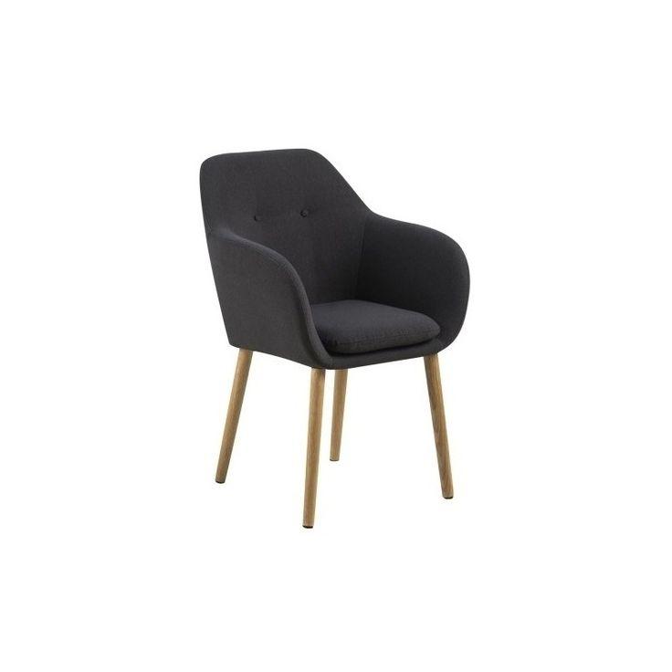 Jídelní/Jednací židle s područkami Milla, černá