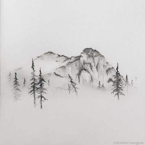 mountain drawing - Buscar con Google