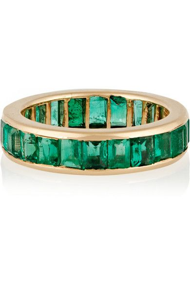 David Webb | 18-karat gold emerald eternity ring | NET-A-PORTER.COM