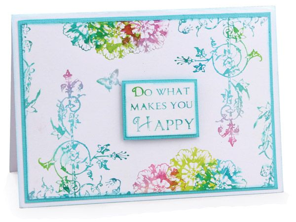 MT563 Happy Dylusion Butterfly Card