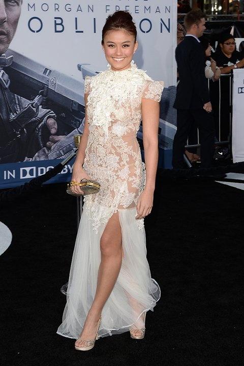 """Agnes Monica at premiere of """"Oblivion"""""""