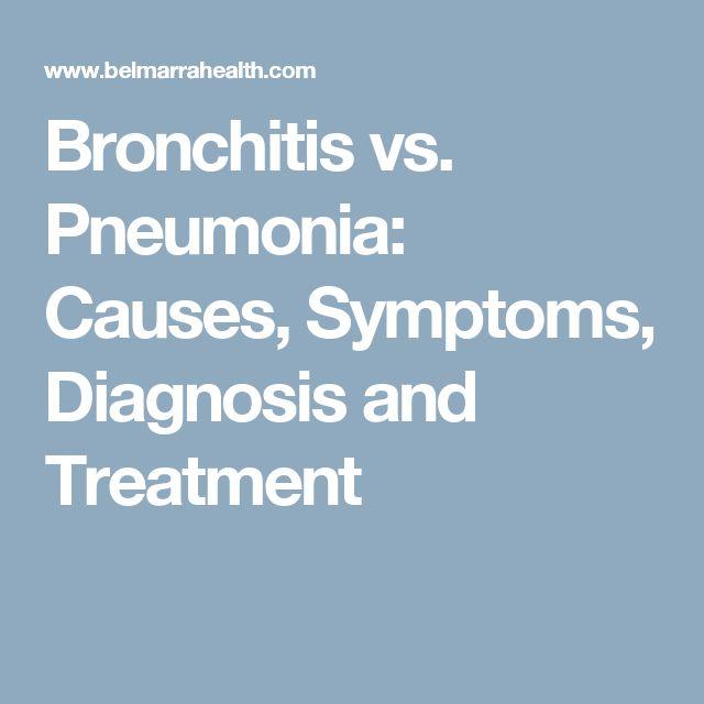 Bronchitis vs. Pneumonia: Causes, Symptoms, Diagnosis and Treatment
